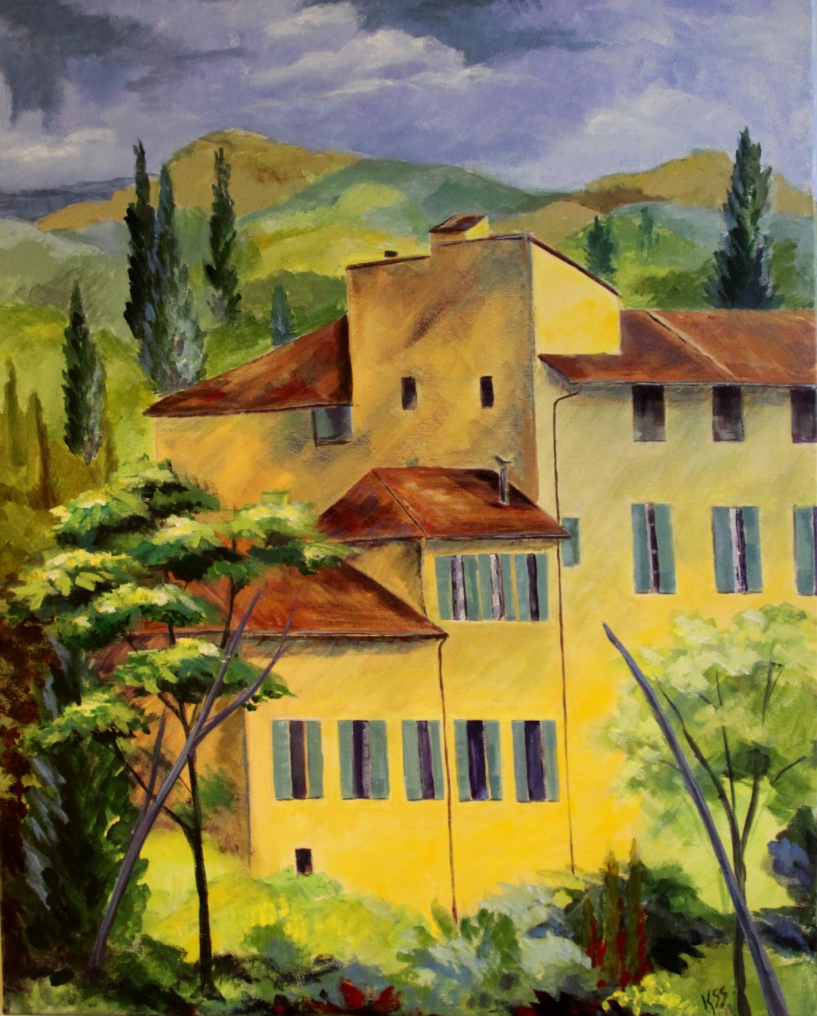 """After Cezanne - 24""""w. x 30"""" ht. - Acrylic"""