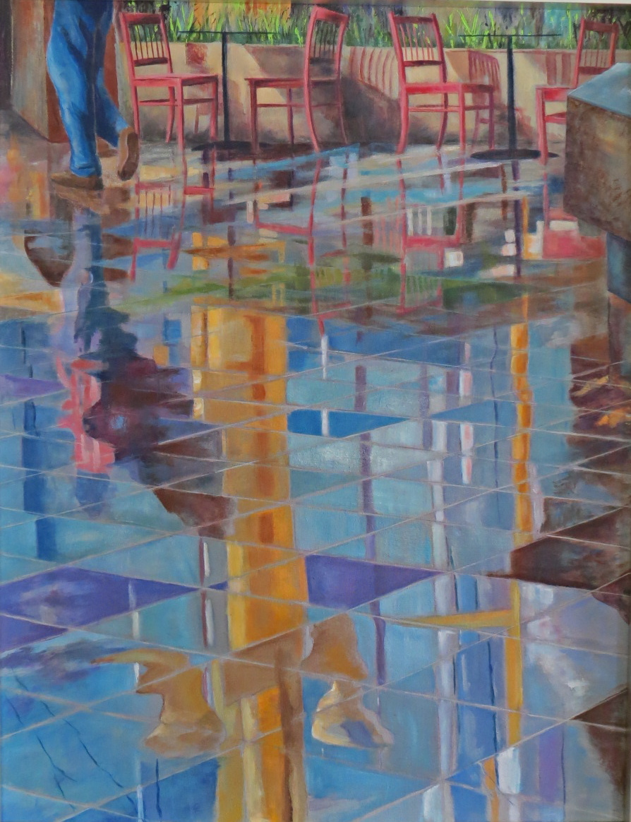 """Reflections - 28""""w. x 36""""ht. - Acrylic, gloss and pastel. Giclee available"""