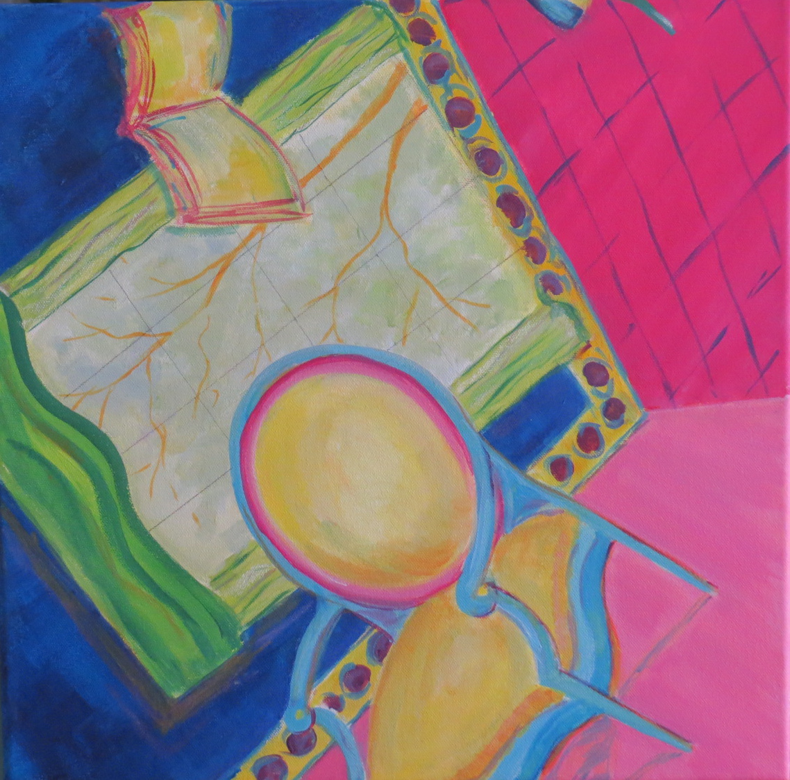 """Topsy Turvy #1 & #2 - 16""""w. x 16""""ht. - Acrylic - Sold separately or can be a dip tic."""